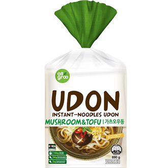 Allgroo Udon-Nudeln, Tofu und Champignons 3 Portion 690g