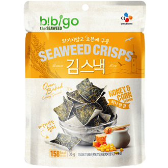 Bibigo Seasoned Seaweed Snack (Honey&Corn), 20G