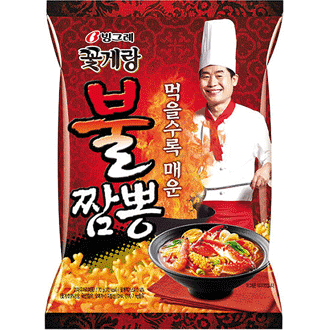 Binggrae Hot & Spicy Seafood Crab Snack 70g