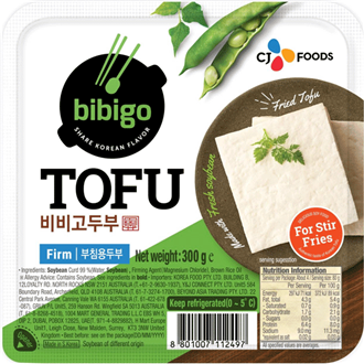 CJ Bibigo Firm Tofu for Pan-fried Fresh 300g