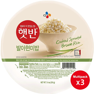 CJ Hetban Cooked Rice (Germinated Brown Rice) 3x210g