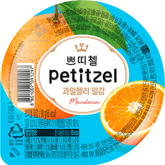 CJ Petitzel Fruit Jelly Mandarine 90g