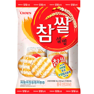 Crown Chapssal Seolbyung Rice Cracker 128g