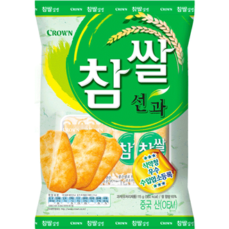 Crown Chapssal Seonkwa Rice Cracker 115g