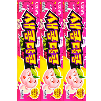 CROWN Chewing Soft Candy Peach 29g x 3