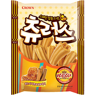 Crown Churus Snack, Honey Cinnamon 84g