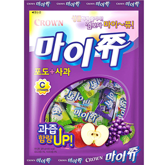Crown My Chew Soft Candy Grape and Apple 328g