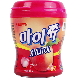 Crown My Chew Xylitol Soft Candy Peach 92g