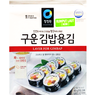 Daesang Roasted Sushi Nori (20Sheets), 40G