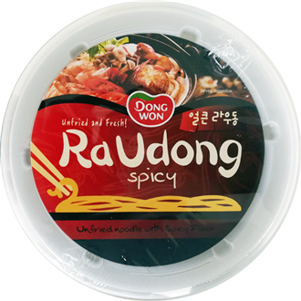 DONGWON Ra Udong Nudelsuppe, Scharf 214g