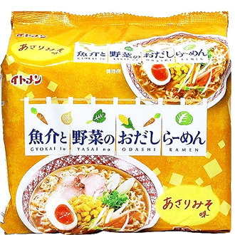 Itomen Miso Ramen with Seafood and Vegetable Broth 5x86g