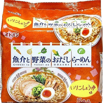 Itomen Shoyu Ramen with Seafood and Vegetable Broth 5x85g