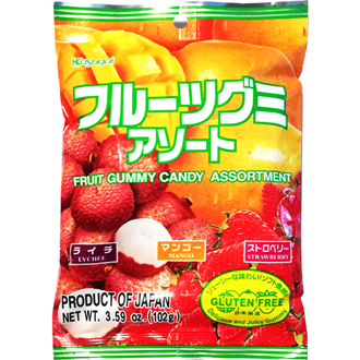 Kasugai Fruit Gummy Candy Assortment Gluten Free 102g