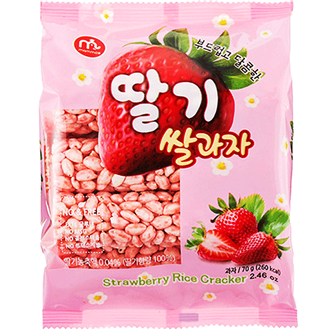 Mammos Rice Cracker Strawberry 70g