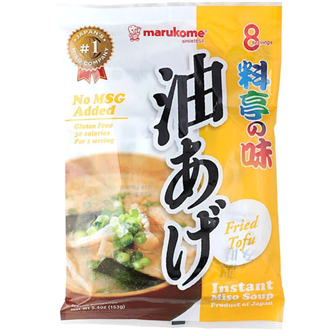Marukome instant miso soup with Fried Tofu 190g