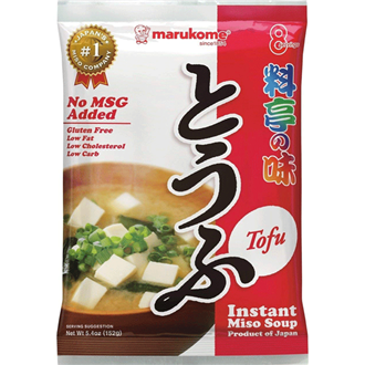Marukome instant miso soup with Tofu  153g