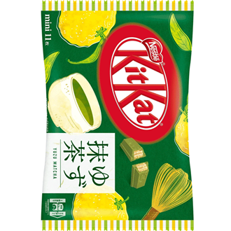 Nestle Kit Kat Mini Yuzu Matcha, Yuzu Citrus & Matcha Green Tea 127.6g