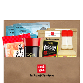NikanKitchen Sushi Eco Box for 8 (6-piece complete sushi eco box for up to 8 Persons)