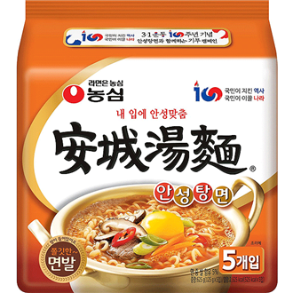 Nongshim Ansungtangmyun Multipack Korean Domestic Edition 5x125g