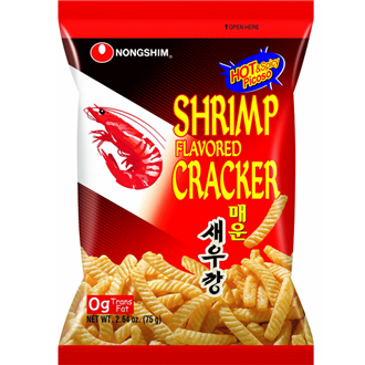Nongshim Garnele Aromatisierter Cracker Hot & Spicy 75g