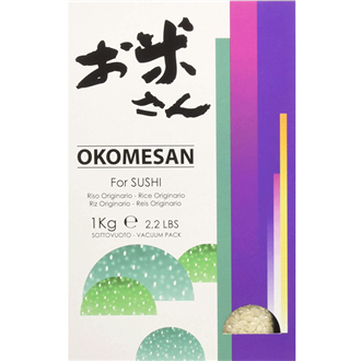 Okomesan Sushi Rice 1kg from Italy (vacuum pack)