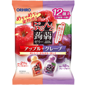 Orihiro Konnyaku Konnyaku Jelly Apple Grape 240g