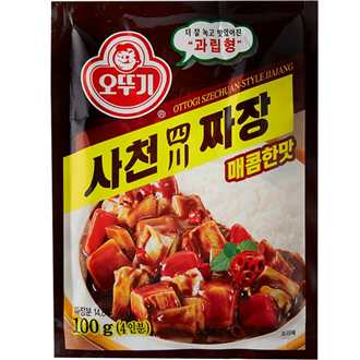 Ottogi Black Bean Jjajang Powder Spicy Sichuan Art 100g