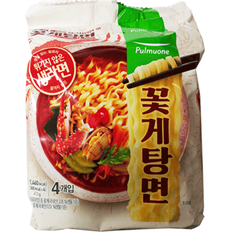 Pulmuone Non-Fried Crab Seafood Ramen Multipack 4x103g