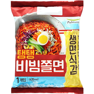 Pulmuone Teng Teng Bibim Jjolmyeon Spicy Cold Chewy Noodles Non-fried 123g