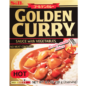 S&B Retort Golden Curry Karakuchi, Scharf, 200g