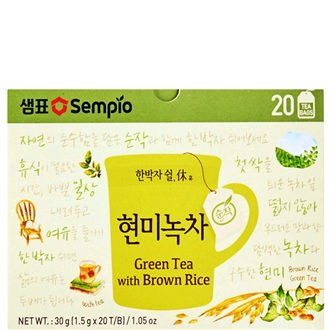 Sempio Green tea with Brown Rice 30g