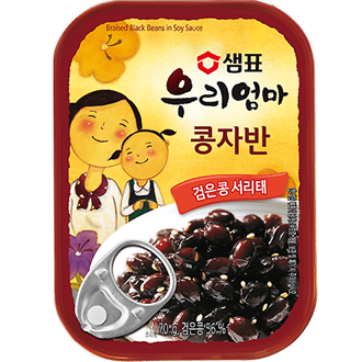 Sempio Kongjaban, Pickled Black Beans in Soy Sauce 70g