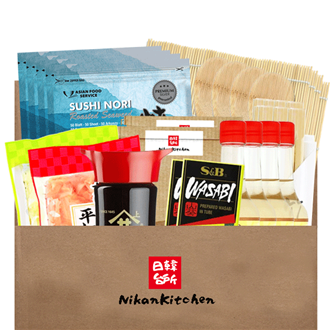 NikanKitchen Starter Sushi Box for 16 (8-piece complete set for up to 16 Persons)