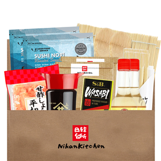 NikanKitchen Starter Sushi Box for 8 (8-piece complete set for up to 8 Persons)