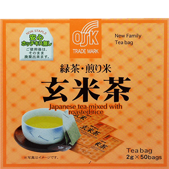 Tokyo OSK New Family Genmai-Cha Tea Bag, Green Tea with Roasted Rice 2gx50p