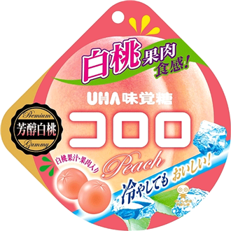 UHA Kororo Fruit Jelly White Peach 40g