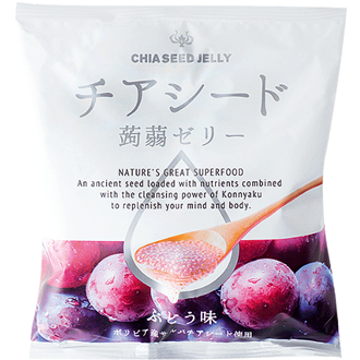 Wakashou Chia Seed Jelly Grape 165g