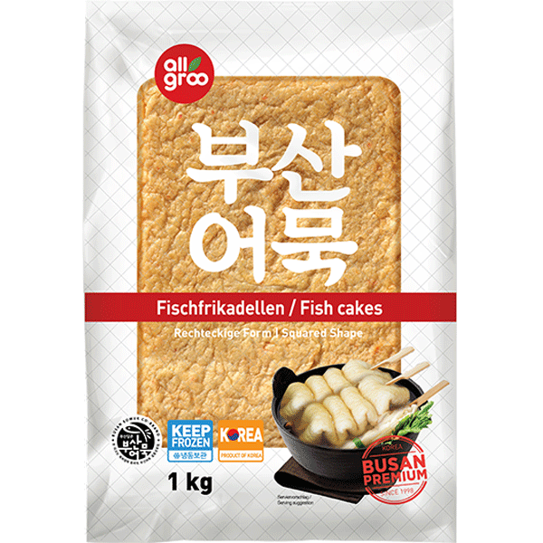 Allgroo Fish Cake, Pre-fried, Squared Shapes, Oden, 1kg