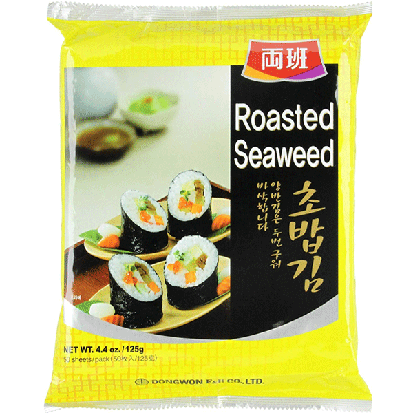 Dongwon Seaweed roasted for sushi (Yaki sushi nori) 50 sheets