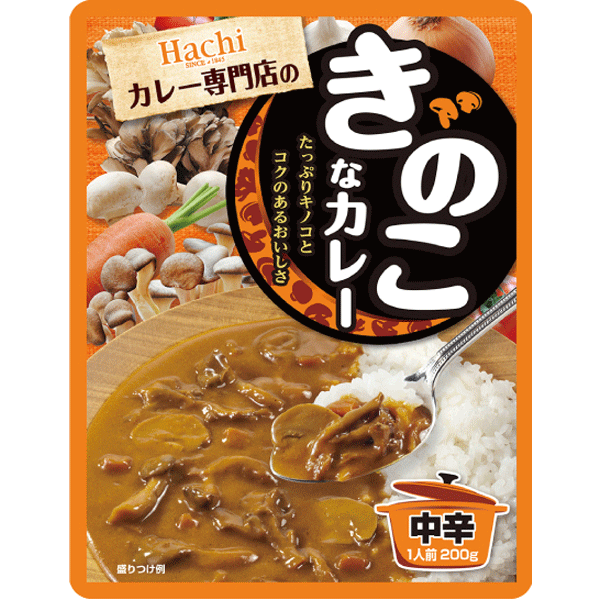 Hachi Kinoko na Curry, Curry with mushrooms 200g