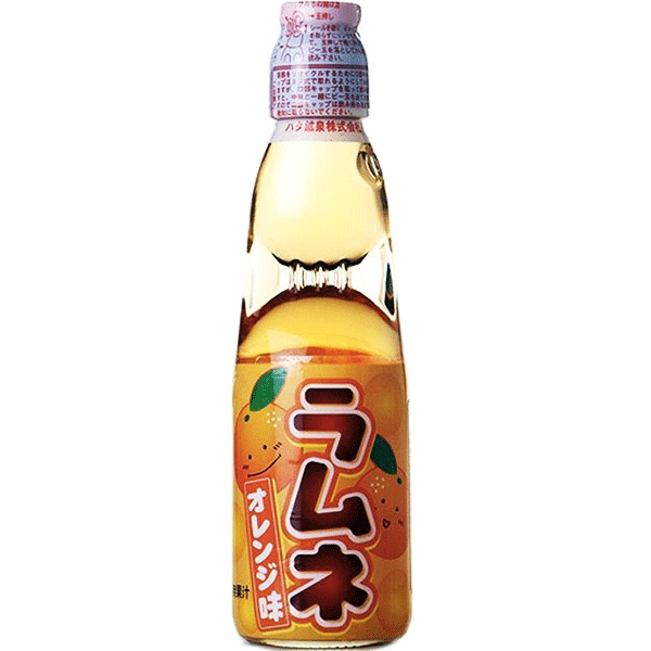 Hata Ramune Soda, Orange, 200 ml