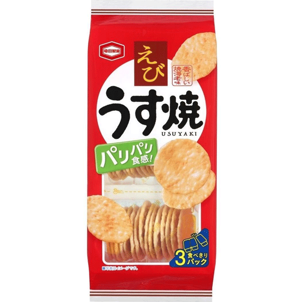 KAMEDASEIKA Ebi usuyaki, Thin Prawn Rice Crackers 80g