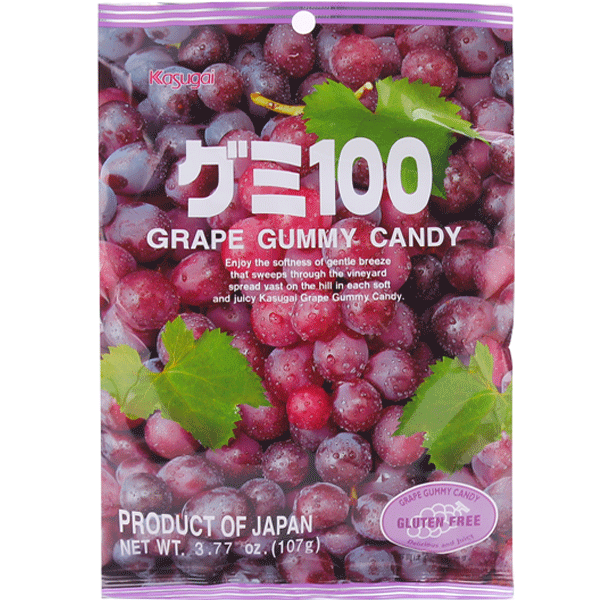 Kasugai gummy100 Grape Gluten Free 107g