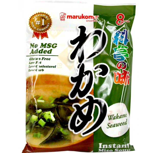 Marukome instant miso soup with Wakame seaweed  156g