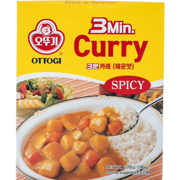 Ottogi 3 minutes Curry Hot 200g