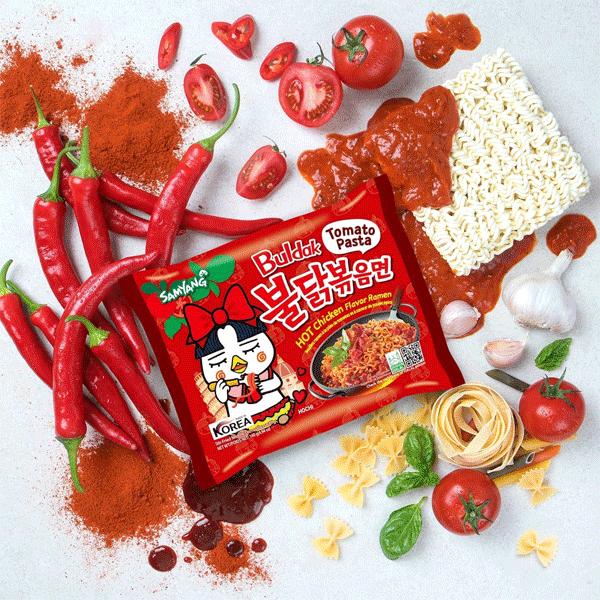 Samyang Hot Chicken Ramen Tomato Pasta Multipack 5×140g - NikanKitchen  (日韓台所)
