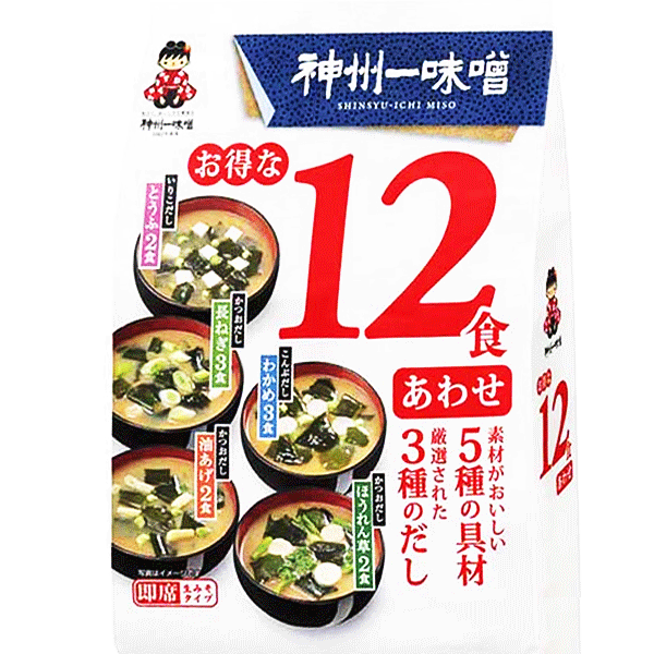 Shinshuichi Awase Miso, Instant miso soup, blended dark, 193g